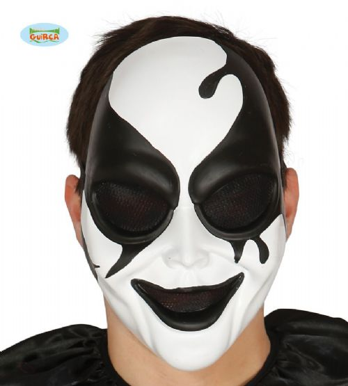 Killer Harlequin Mask for Adult Halloween Clown Jester Fancy Dress Accessory